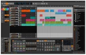 bitwig studio UI