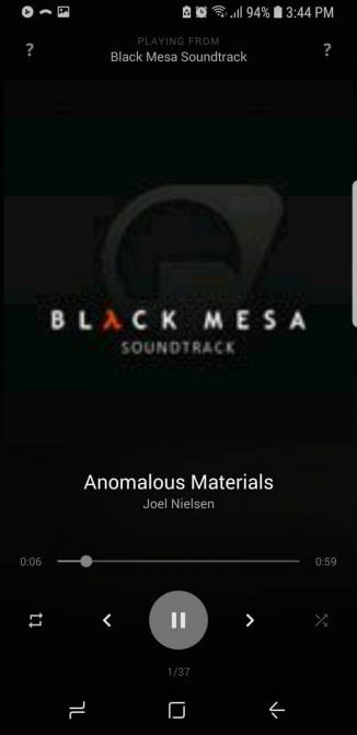 android-music-black-player-3- اپلیکیشن موسیقی آفلاین