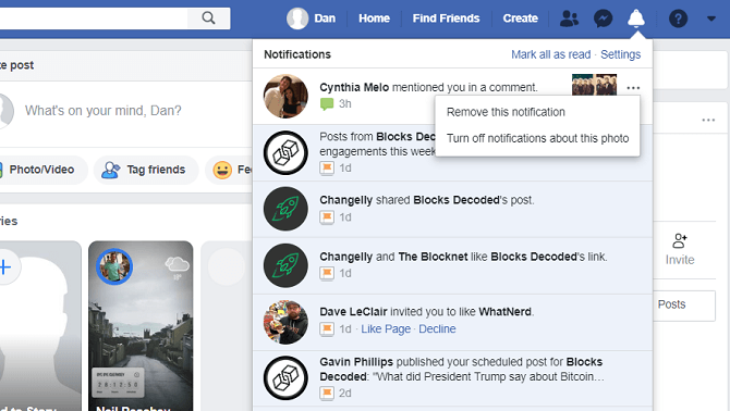 facebook-remove-notification- حذف اعلان فیسبوک